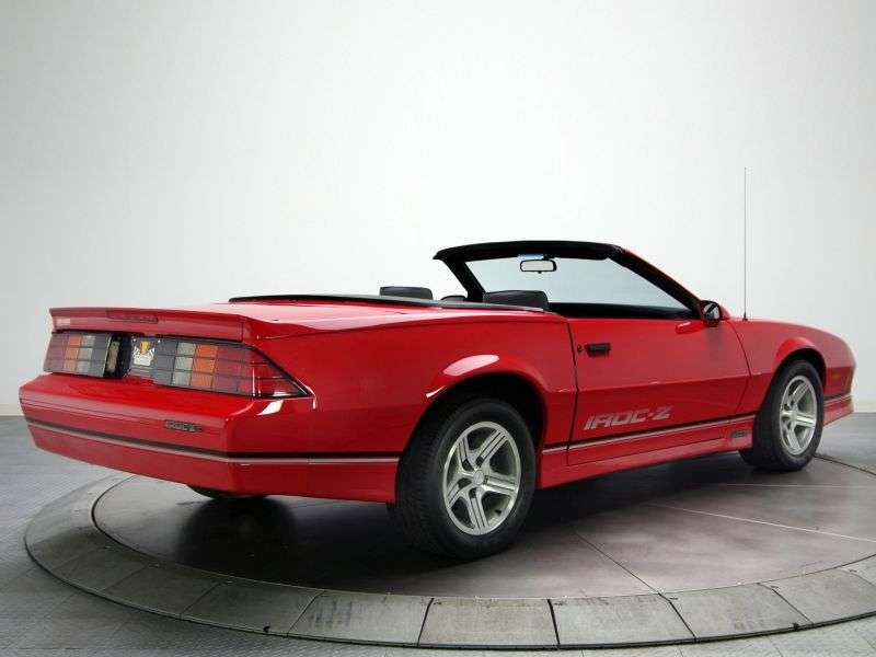 Chevrolet Camaro 3rd generation [restyling] Z28 convertible 5.0 MT (1987–1989)