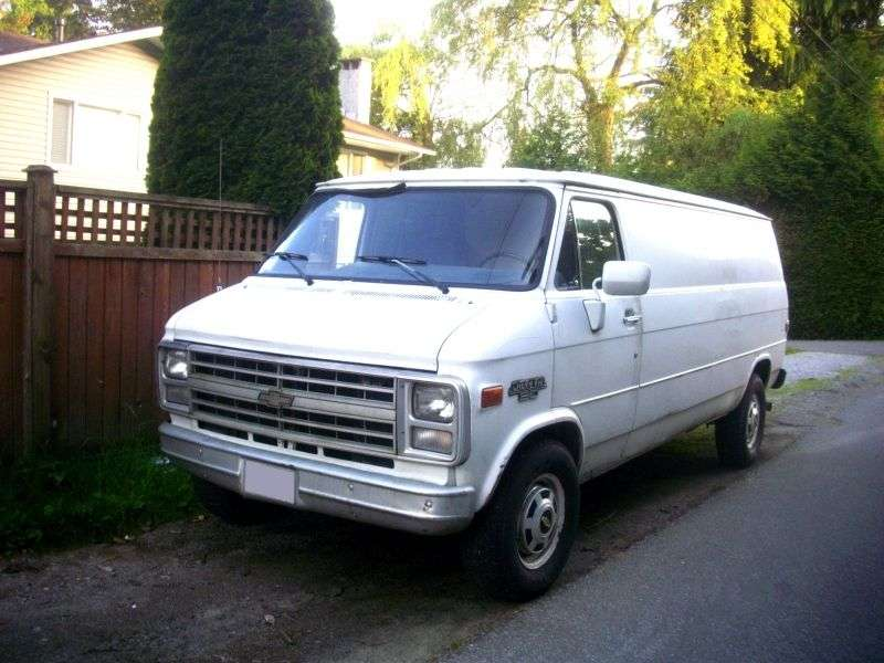 Chevrolet Chevy Van 3rd generation [3rd restyling] van 5.7 AT G30 (1983–1986)