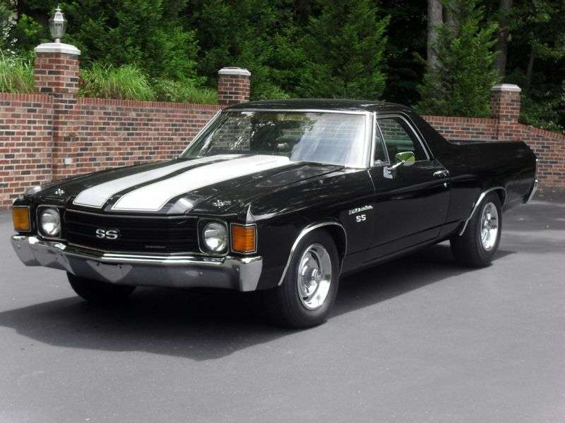 Chevrolet El Camino 3rd generation [4th restyling] pickup 7.4 Turbo Hydra Matic (1972–1972)