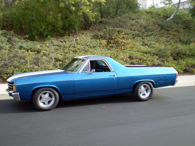 Chevrolet El Camino 3rd generation [4th restyling] pickup 5.0 Turbo Hydra Matic (1972–1972)