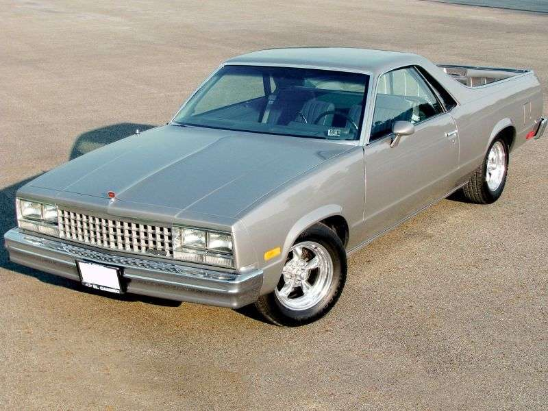Chevrolet El Camino 5th generation [4th restyling] Classic pickup 3.8 AT California (1982–1985)