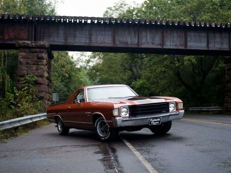 Chevrolet El Camino 3rd generation [4th restyling] pickup 7.4 MT HD (1972–1972)