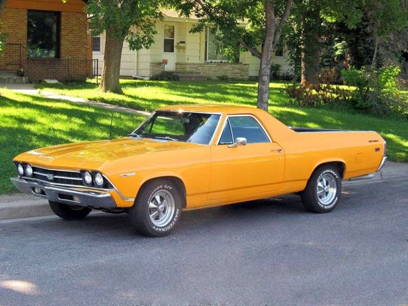 Chevrolet El Camino 3rd generation [restyling] pickup 5.7 Synchromesh Close (1969–1969)