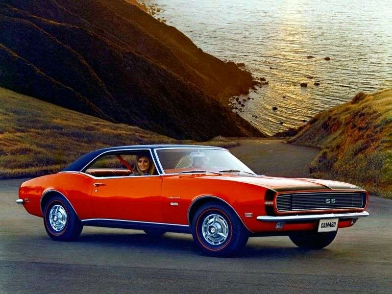 Chevrolet Camaro 1st generation [restyling] RS coupe 2 bit. 6.5 3MT (1968–1968)
