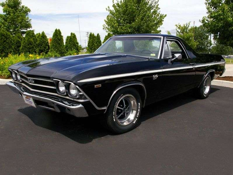 Chevrolet El Camino 3rd generation [restyling] pickup 5.7 Turbo Hydra Matic (1969–1969)