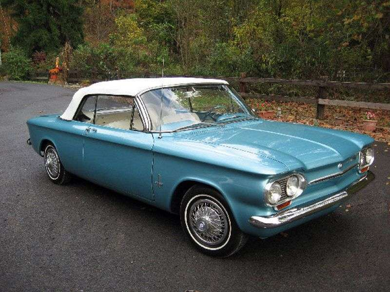 Chevrolet Corvair 1st generation [3rd restyling] 2.4 Turbocharged 4MT Convertible (1963–1963)
