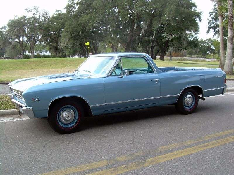 Chevrolet El Camino 2nd generation [3rd restyling] pickup 3.8 Powerglide (1967–1967)