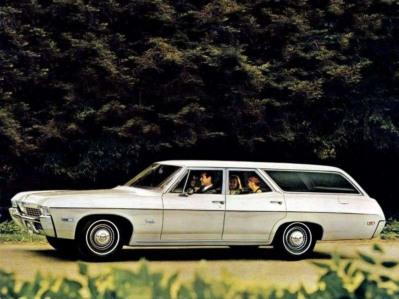 Chevrolet Impala 4th generation [3rd restyling] station wagon 7.0 MT 3 seat (1968–1968)