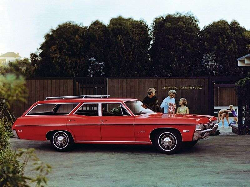Chevrolet Impala 4th generation [3rd restyling] station wagon 5.0 4MT 3 seat (1968–1968)