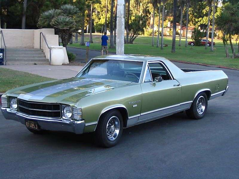 Chevrolet El Camino 3rd generation [3rd restyling] pickup 6.6 Turbo Hydra Matic (1971–1971)