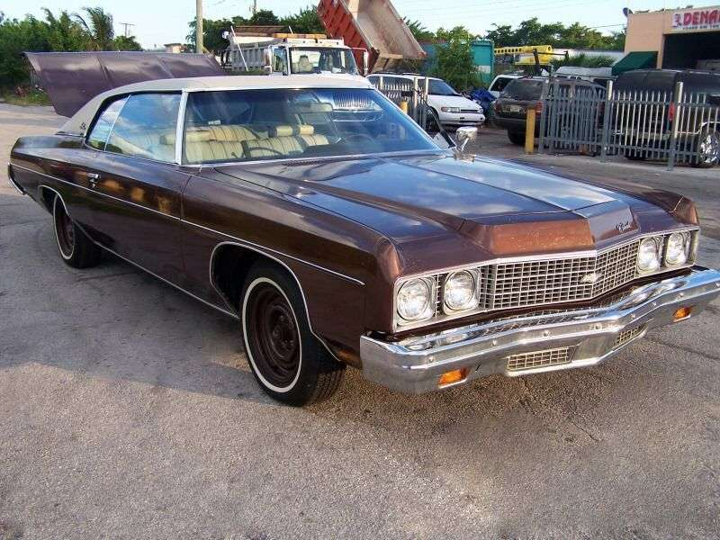 Chevrolet Impala 5th generation [2nd restyling] Custom coupe 2 dv. 5.7 Turbo Hydra Matic (1973–1973)