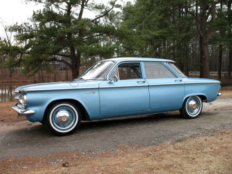 Chevrolet Corvair 1st generation [restyled] 2.4 4Synchromesh sedan (1961–1961)