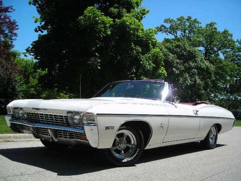 Chevrolet Impala 4th generation [3rd restyling] 5.4 4MT Convertible (1968–1968)