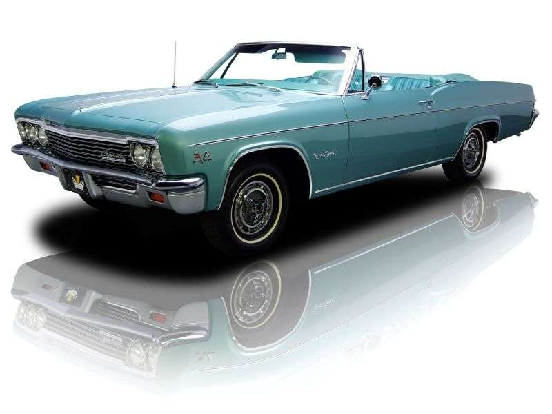 Chevrolet Impala 4th generation [restyling] 7.0 convertible 3MT (1966–1966)