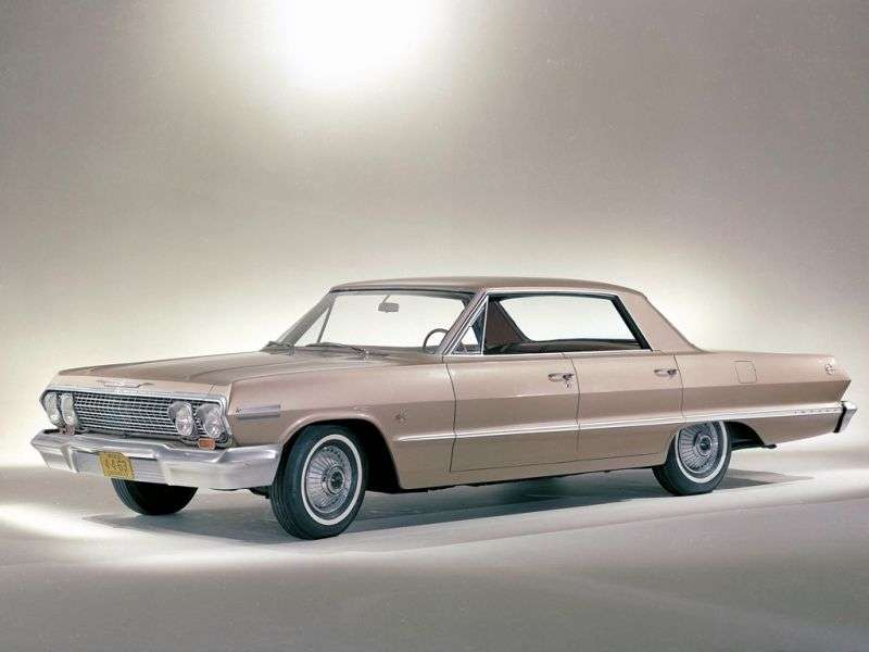 Chevrolet Impala 3rd generation [2nd restyling] 3.8 MT sedan (1963–1963)