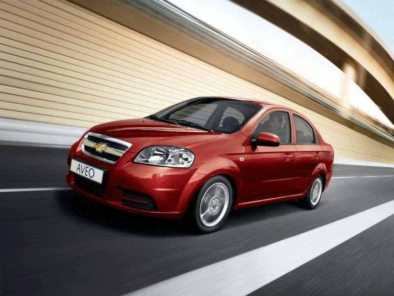 Chevrolet Aveo T250 [restyling] 1.2 MT sedan (2008–2011)