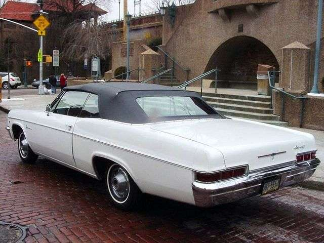 Chevrolet Impala 4th generation [restyling] 5.4 3MT convertible (1966–1966)