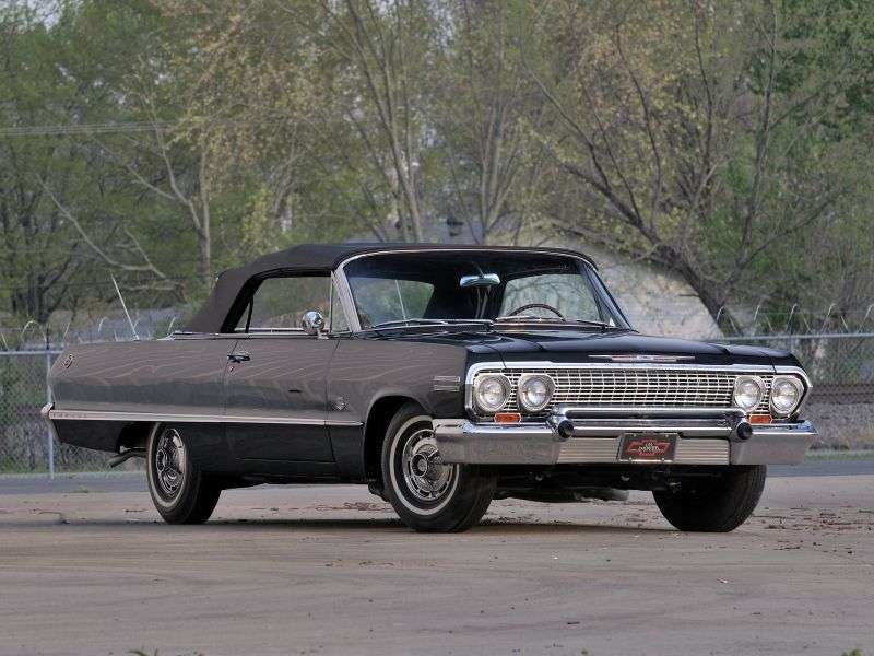 Chevrolet Impala 3rd generation [2nd restyling] 5.4 Powerglide convertible (1963–1963)
