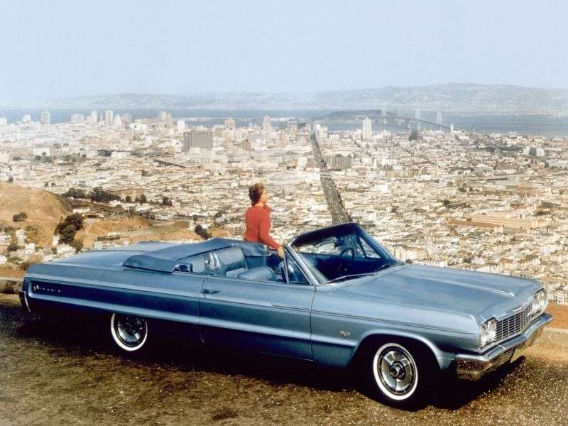 Chevrolet Impala 3rd generation [3rd restyling] 5.4 Powerglide convertible (1964–1964)