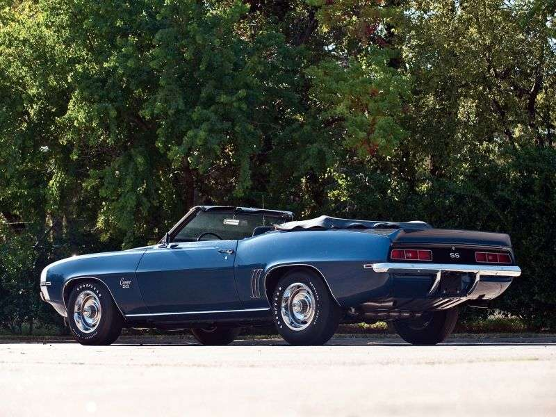 Chevrolet Camaro 1st generation [2nd restyling] 2 door convertible 3.8 3MT (1969–1969)