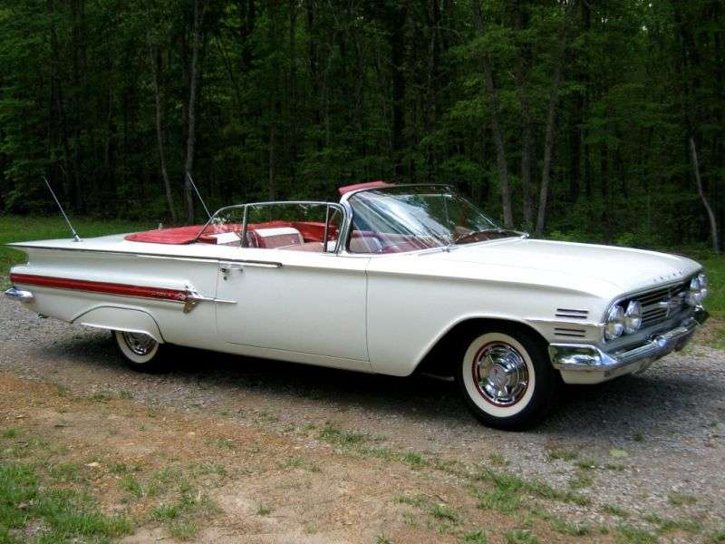 Chevrolet Impala 2nd generation [restyling] convertible 4.6 3MT (1960–1960)
