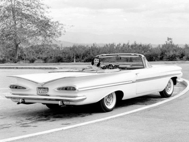 Chevrolet Impala 2nd generation convertible 4.6 3MT (1959–1959)