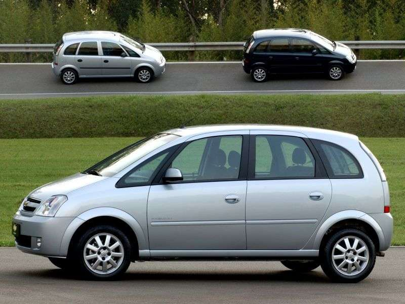 Chevrolet Meriva 1st generation [restyled] minivan 1.8 Flexfuel MT (2008–2012)