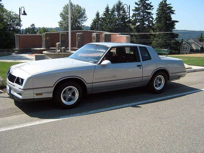 Chevrolet Monte Carlo 4th generation [3rd restyling] SS Coupe 5.0 AT Overdrive (1986–1988)