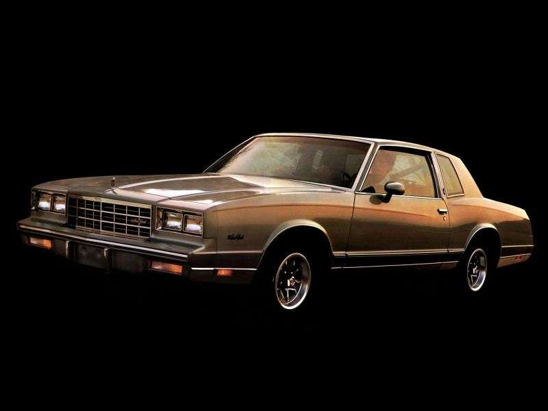Chevrolet Monte Carlo 4th generation [2nd restyling] coupe 2 dv. 5.0 AT Overdrive (1985–1985)