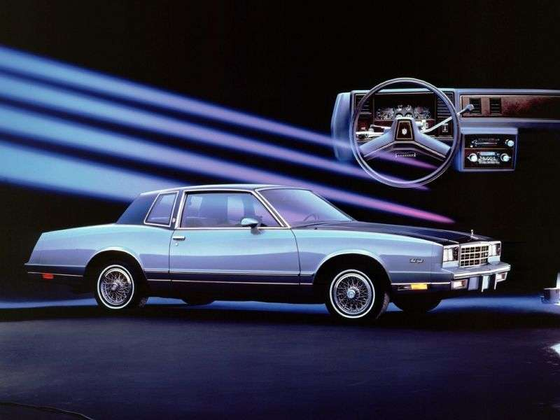 Chevrolet Monte Carlo 4th generation [2nd restyling] coupe 2 dv. 3.8 AT California (1984–1984)