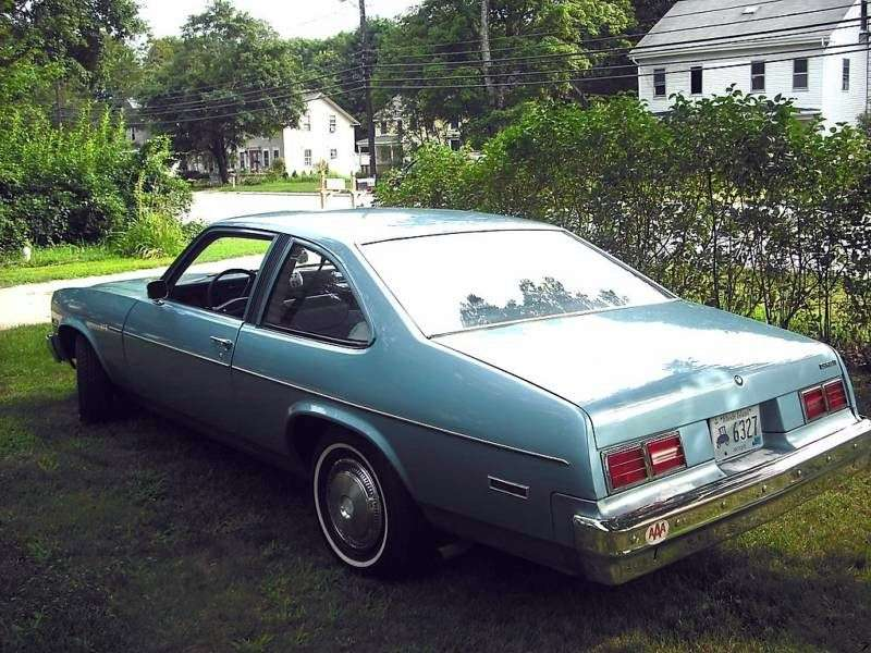Chevrolet Nova 4th generation [restyling] coupe 2 bit. 5.0 Turbo Hydra Matic (1976–1976)