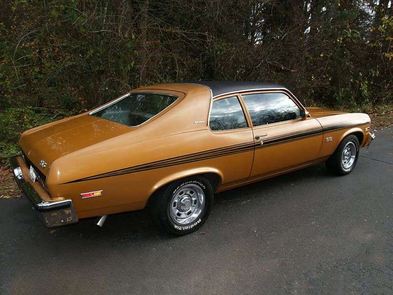 Chevrolet Nova 3rd generation [3rd restyling] coupe 5.7 Turbo Hydra Matic (1973–1974)