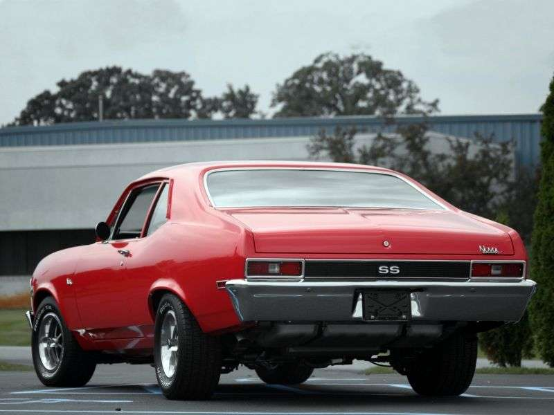 Chevrolet Nova 3rd generation [2nd restyling] coupe 5.7 Turbo Hydra Matic (1970–1972)