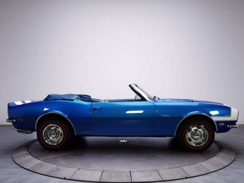 Chevrolet Camaro 1st generation [restyling] 6.5 4MT convertible (1968–1968)