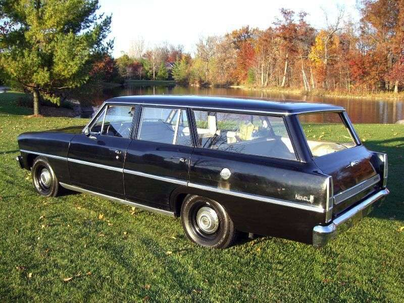 Chevrolet Nova 2nd generation [restyling] station wagon 4.6 Powerglide (1967–1967)