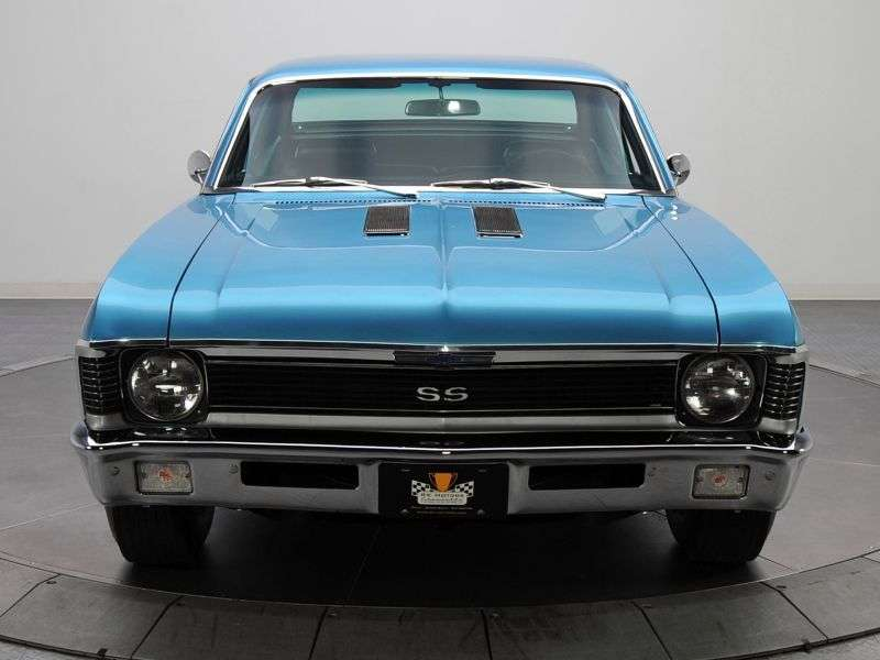 Chevrolet Nova 3rd generation [2nd restyling] coupe 3.8 Turbo Hydra Matic (1970–1972)
