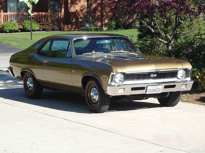 Chevrolet Nova 3rd generation [restyling] coupe 5.7 Turbo Hydra Matic (1969–1969)
