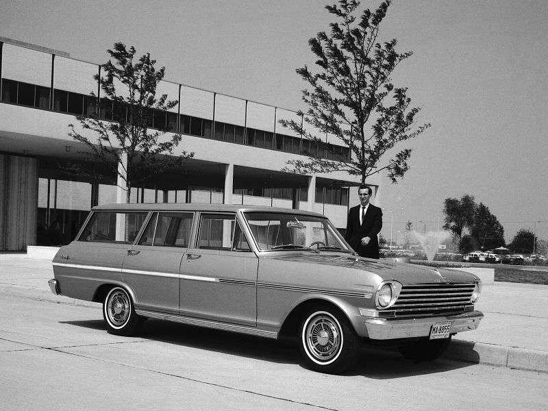 Chevrolet Nova 1st generation [restyling] wagon 3.2 Synchromesh (1963–1963)