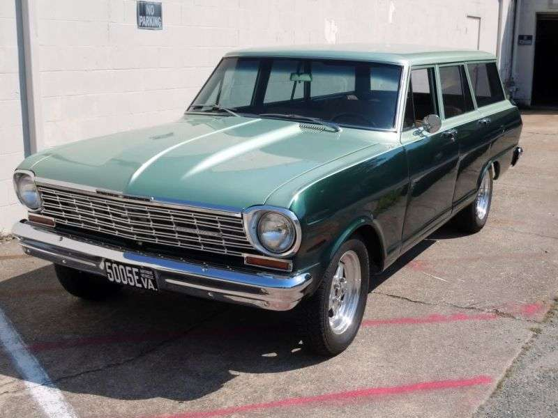 Chevrolet Nova 1st generation [2nd restyling] station wagon 4.6 Powerglide (1964–1964)