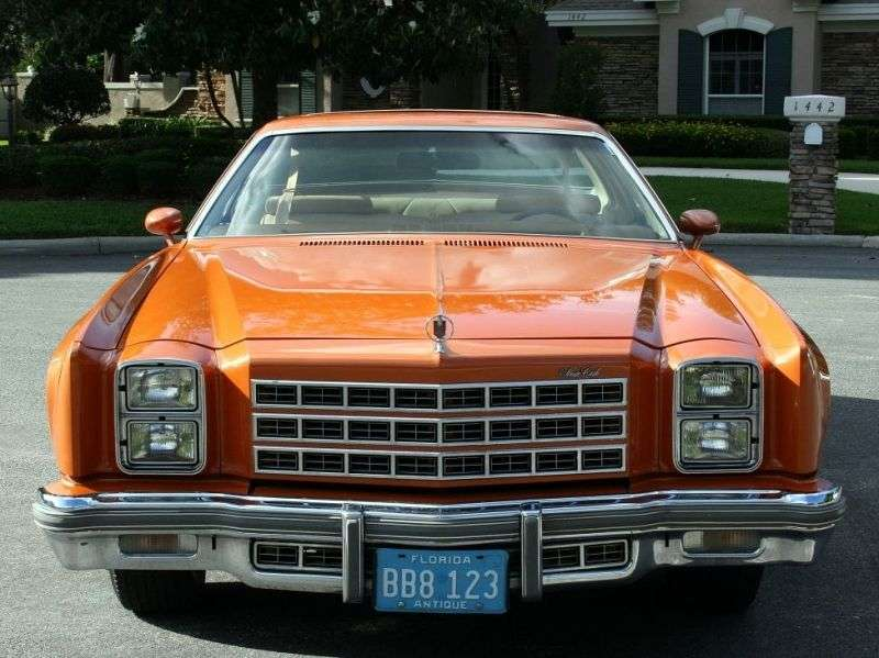 Chevrolet Monte Carlo 2nd generation [4th restyling] Coupe 5.0 Turbo Hydra Matic (1977–1977)