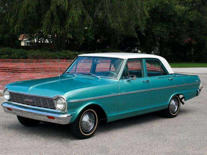 Chevrolet Nova 1st generation [3rd restyling] sedan 5.4 Powerglide (1965–1965)