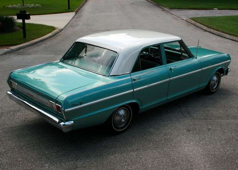 Chevrolet Nova 1st generation [3rd restyling] sedan 3.2 Powerglide (1965–1965)