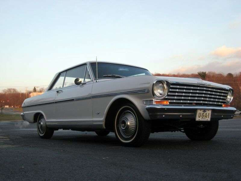 Chevrolet Nova 1st generation [restyling] coupe 2.5 Powerglide (1963–1963)