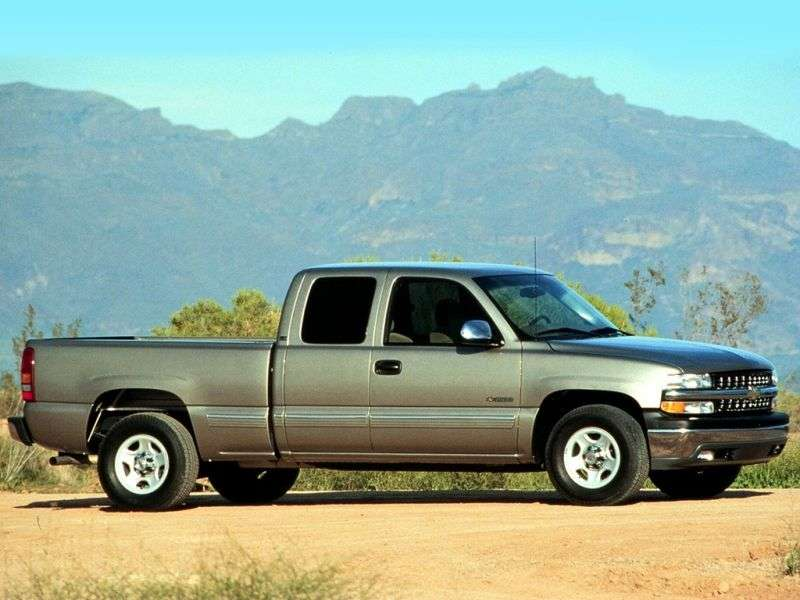 Chevrolet Silverado GMT800Extended Cab pick up 4 bit. 4.8 4AT 4WD LWB 1500 Fleetside (1999–2001)