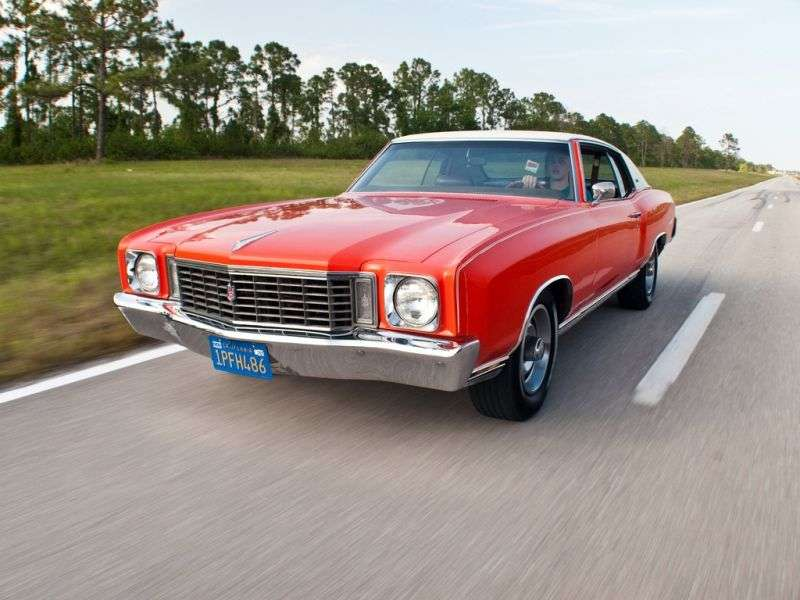 Chevrolet Monte Carlo 1st generation [2nd restyling] coupe 5.7 Powerglide (1972–1972)