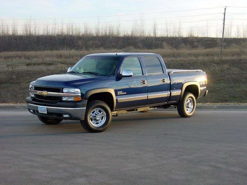 Chevrolet Silverado GMT800Crew Cab pick up 4 bit. 8.1 5AT LWB 2500HD (2001–2002)