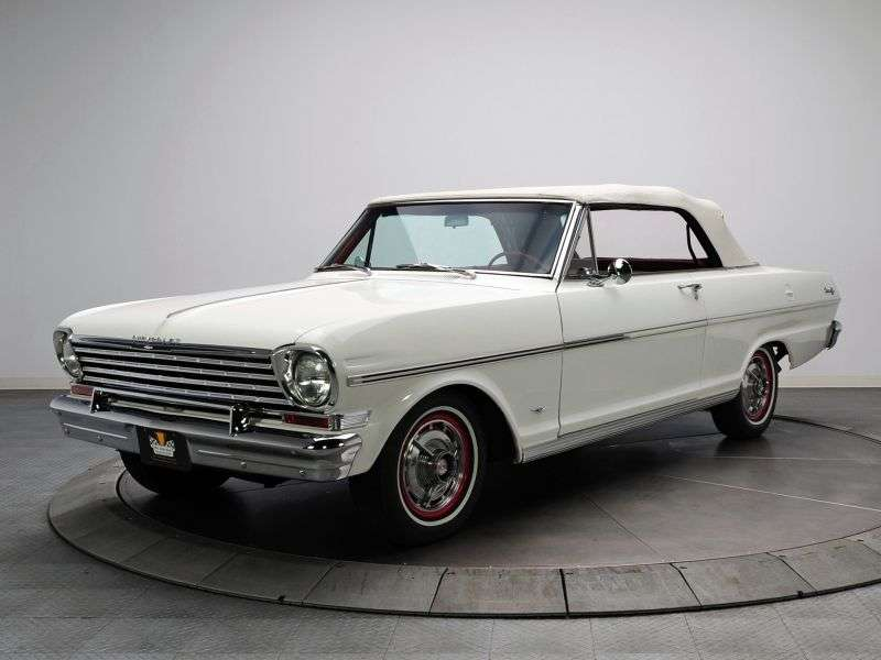 Chevrolet Nova 1st generation [restyling] 3.2 Powerglide convertible (1963–1963)