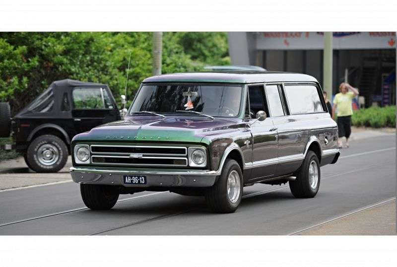 Chevrolet Suburban 7th generation SUV 5.0 3MT Heavy Duty 4WD (1967–1970)