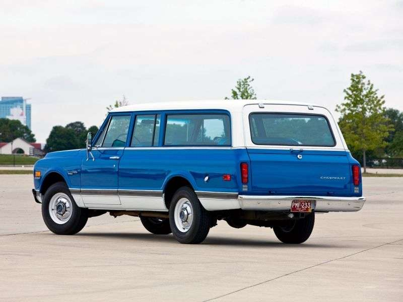 Chevrolet Suburban 7th generation [restyling] SUV 6.6 3MT Heavy Duty (1971–1972)