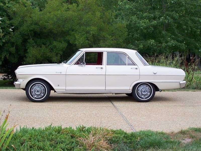 Chevrolet Nova 1st generation [2nd restyling] 3.8 Powerglide sedan (1964–1964)